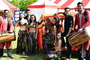 The Bollywood Dance Company with the Rhythm & Bass Dohl Drummers