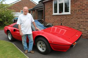 Simon and his classic Ferrari